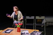 Tulips play rehearsal; written by Michael Beakhouse & directed by Exit Panda
